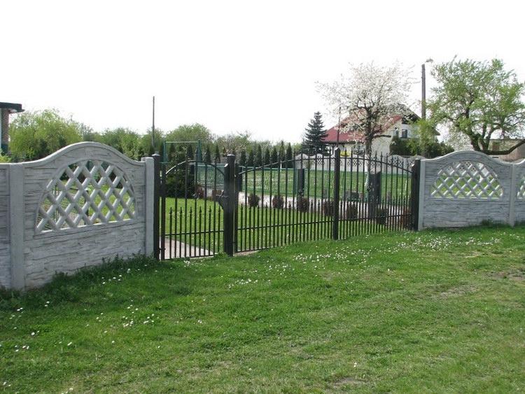 Plot kolem zahrady, plot na zahradu z betonu