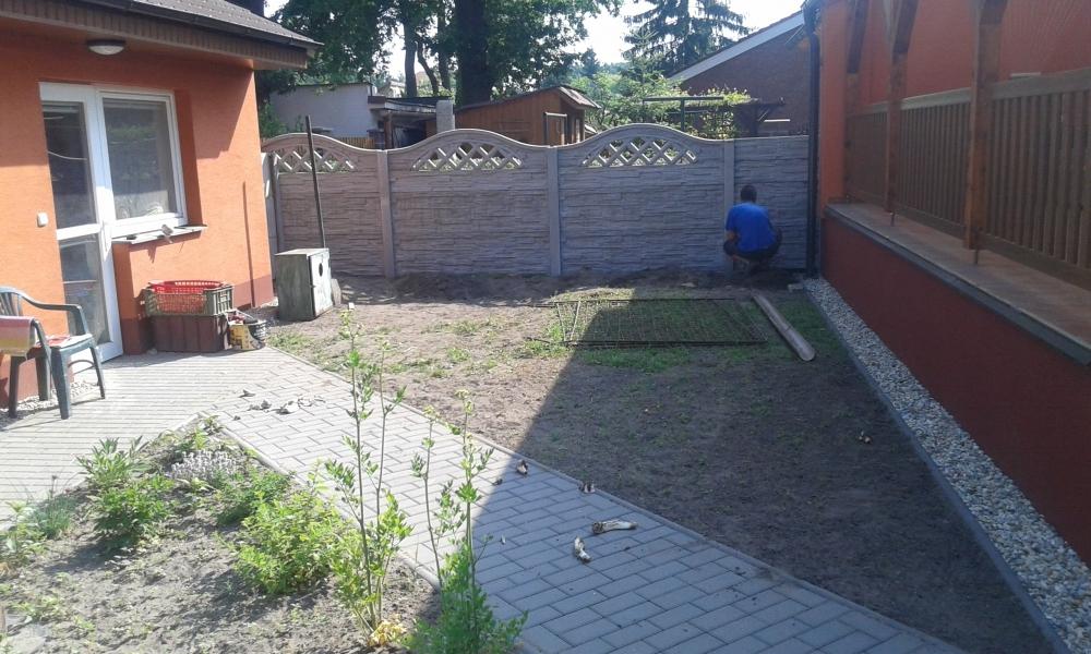 Okrasný betonový plot který zajistí soukromí