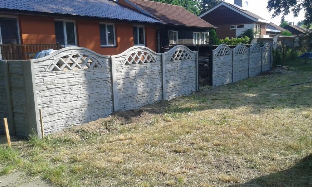 Panelový okrasný betonový plot