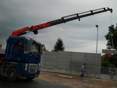 Montáž betonového plotu a jednotlivých dílů